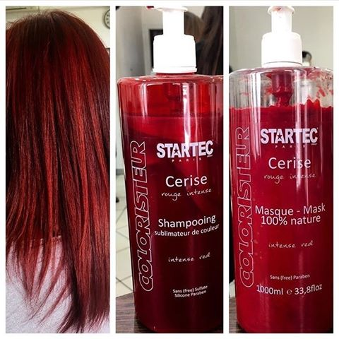 masque cheveux rouge
